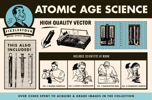 Atomic Age Science Part I | Retro Clip Art