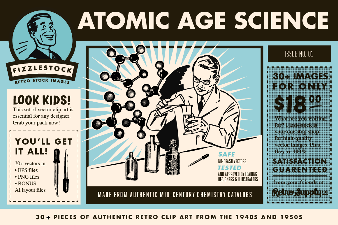 Atomic Age Science Part II | Retro Clip Art