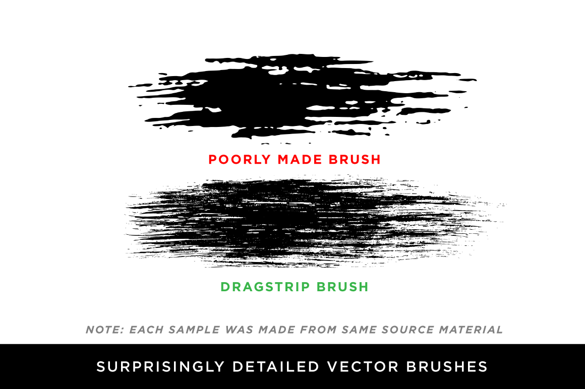 DragStrip 2 | Vector Brush Pack by Von Glitschka