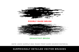 DragStrip 2 | Vector Brush Pack by Von Glitschka for Adobe Illustrator