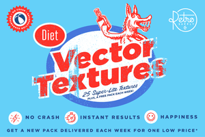 Diet Vector Textures Bundle for Adobe Illustrator