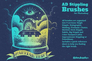 AD Stippling Brushes for Photoshop Adobe Photoshop RetroSupply Co