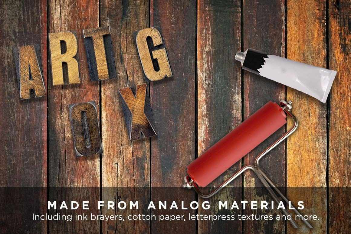 Analog Ink Foundry | Vintage & Grunge Photoshop Brushes, Texture and Templates Adobe Photoshop RetroSupply Co