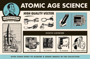 Atomic Age Science Part II | Retro Clip Art Clip Art RetroSupply Co