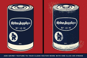 Battery Acid Vector Brushes Adobe Illustrator RetroSupply Co