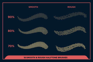 Black Magic Halftones | Halftone Brushes for Procreate Brushes RetroSupply Co