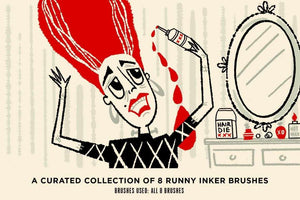 Broken Inkers Brush Set for Adobe Photoshop Adobe Photoshop RetroSupply Co.
