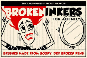 Broken Inkers Brush Set for Affinity Affinity Designer Brushes RetroSupply Co.