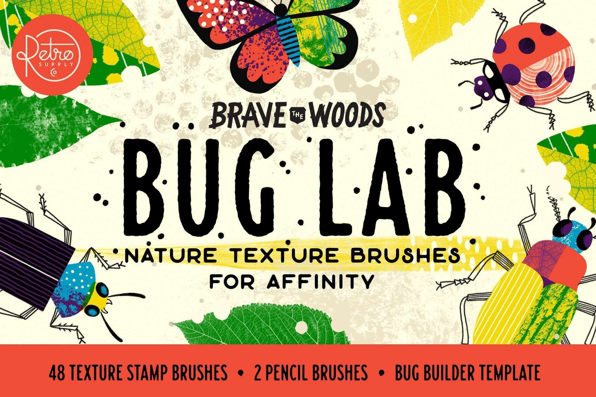 Bug Lab | Nature Texture Brushes for Affinity Brushes RetroSupply Co.