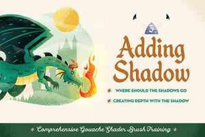 Comprehensive Gouache Shader Brush Training with Adam Grason Resources RetroSupply Co.