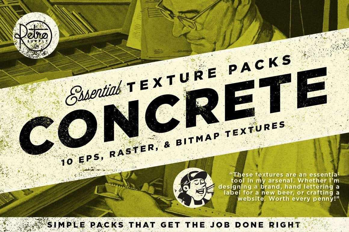 Concrete | Essential Texture Pack Textures RetroSupply Co