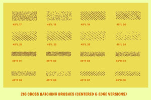 Cross-Country Crosshatchers for Adobe Illustrator Adobe Illustrator RetroSupply Co.