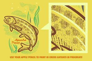 Cross-Country Crosshatchers for Procreate Brushes RetroSupply Co.