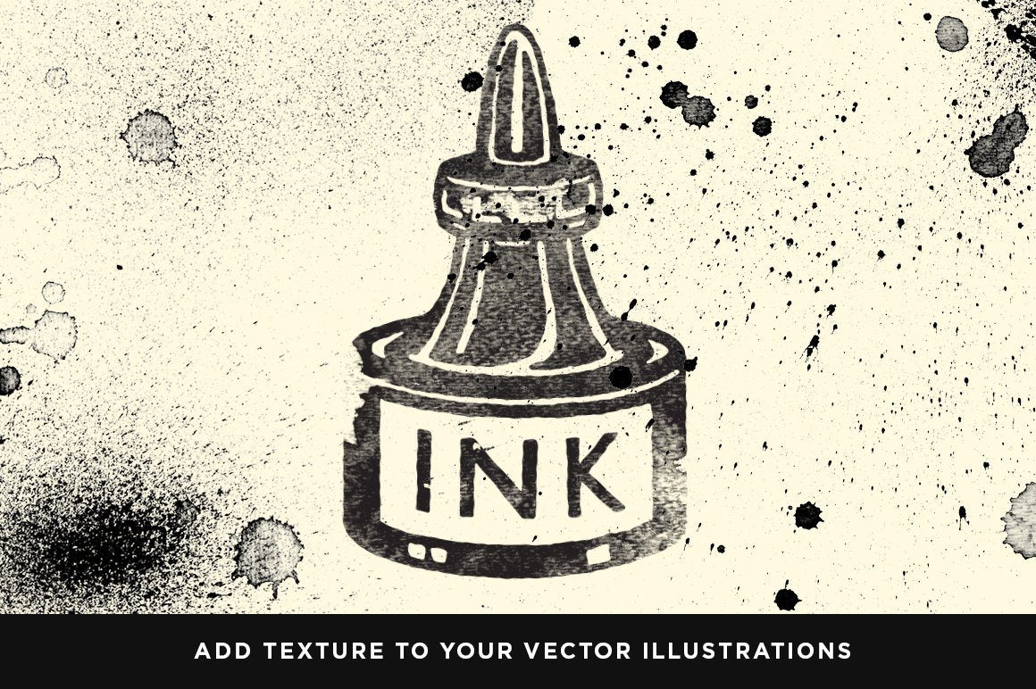 Dirty Ink | Ink Wash Textures Adobe Photoshop RetroSupply Co