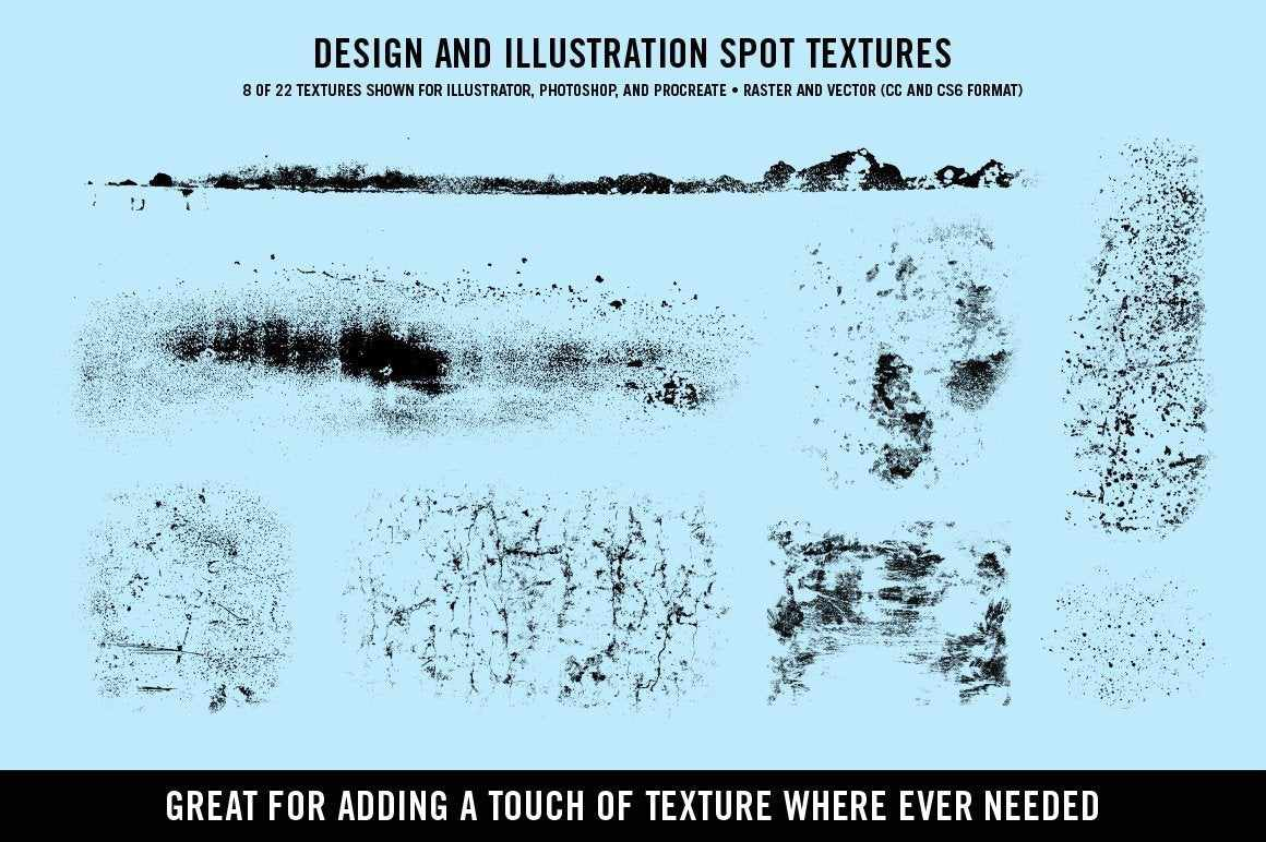 Doggone Design & Illustration Textures by Von Glitschka for Illustrator Textures RetroSupply Co.