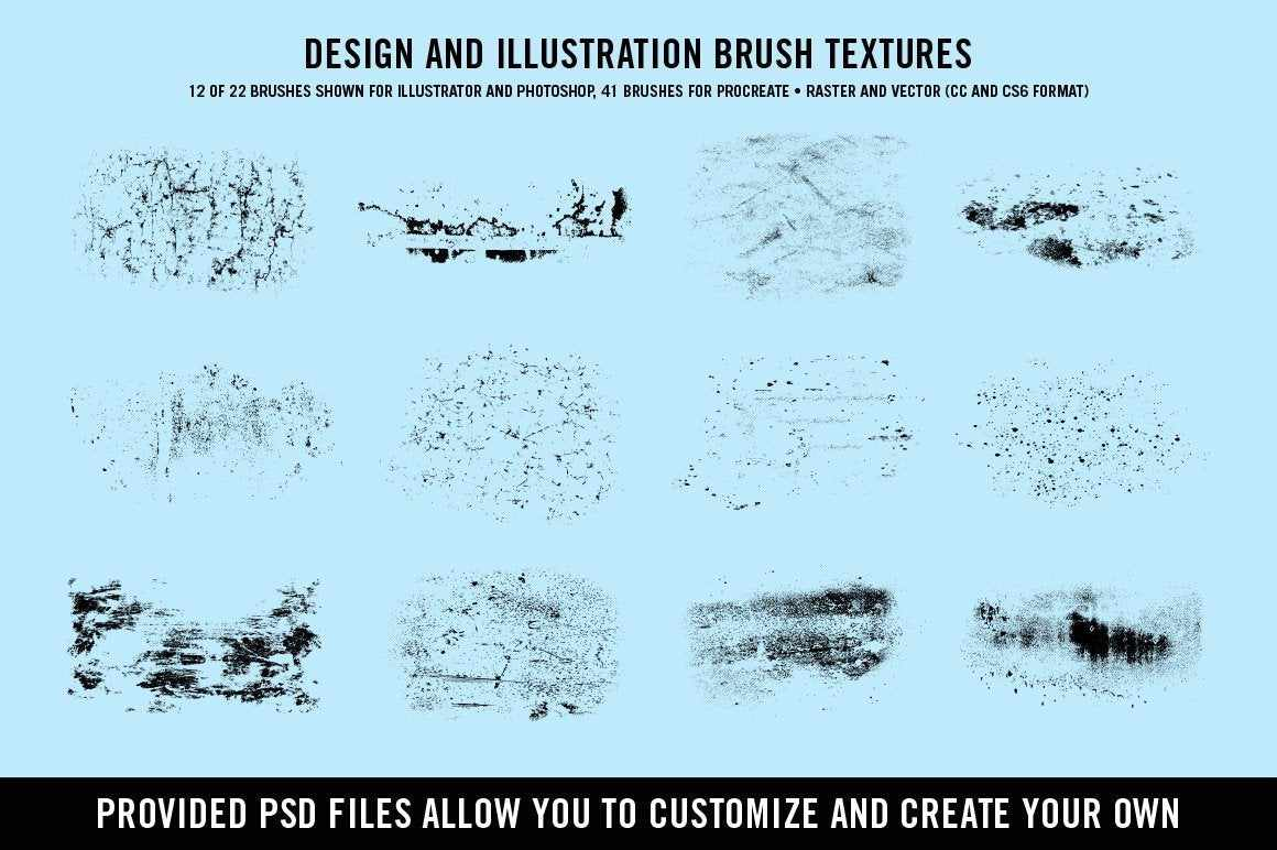 Doggone Design & Illustration Textures by Von Glitschka | for Procreate Procreate Brushes RetroSupply Co.