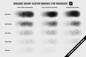 Doggone Grainy Scatter Brushes by Von Glitschka | for Procreate RetroSupply Co.