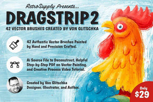 DragStrip 2 | Vector Brush Pack by Von Glitschka Adobe Illustrator RetroSupply Co