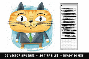 Dragstrip | Illustrator Brush Kit by Von Glitschka Adobe Illustrator RetroSupply Co
