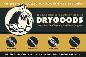 DryGoods | Chalk Brushes for Affinity Designer Affinity Designer Brushes RetroSupply Co.
