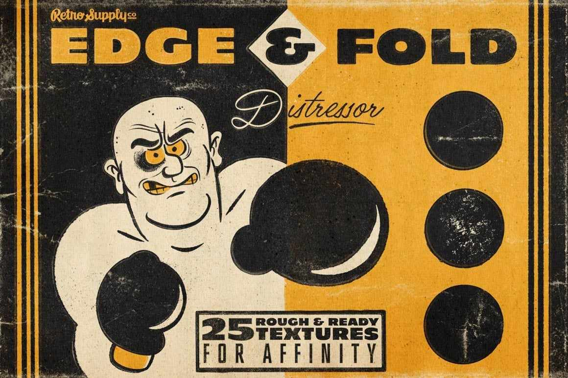 Edge & Fold Distressor Brushes for Affinity Brushes RetroSupply Co.