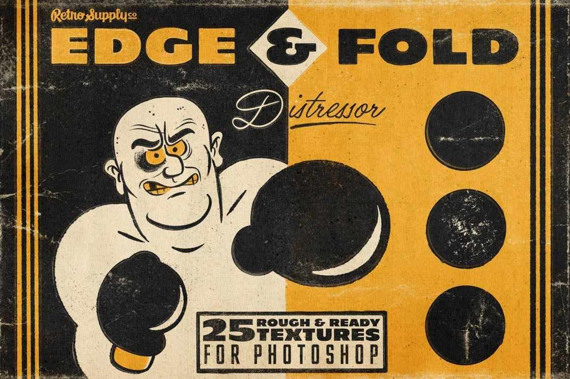 Edge & Fold Distressor Brushes for Photoshop Brushes RetroSupply Co.