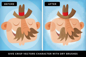 Vector Dry Brushes for Adobe Illustrator by Von Glitschka