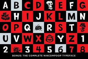 Nincompoop Cartoon Font by Von Glitschka
