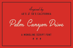 Fonts - Palm Canyon Drive