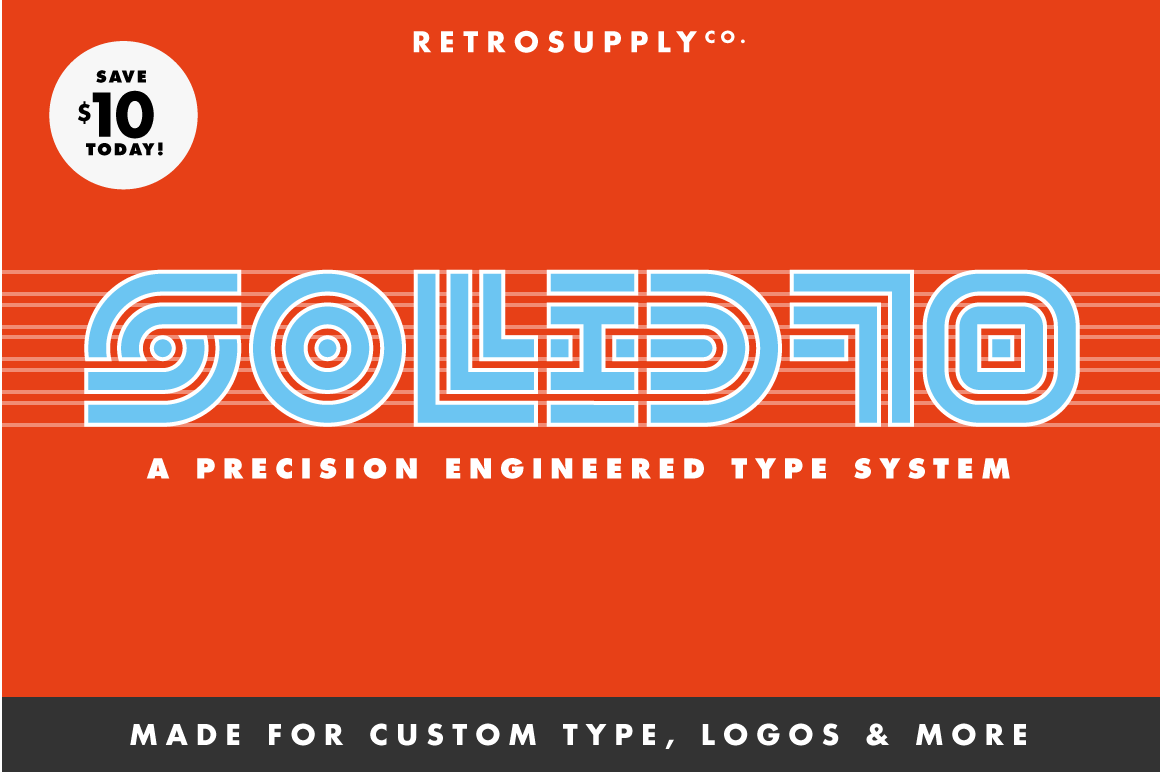 SOLID70 Font System by RetroSupply and The Studio Temporary