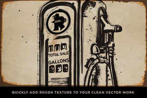 Garage Grime Vector Brush Bundle Adobe Illustrator RetroSupply Co