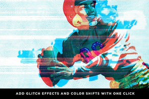 Glitch Effects | Affinity Glitch Bundle Affinity Designer Brushes RetroSupply Co.