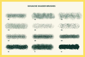 Gouache Shader Brushes for Affinity Brushes RetroSupply Co.