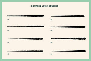 Gouache Shader Brushes for Photoshop Adobe Photoshop RetroSupply Co.