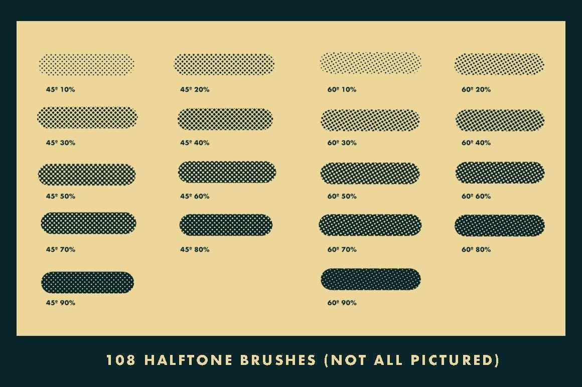 Horrific Halftones for Affinity Affinity Designer Brushes RetroSupply Co.