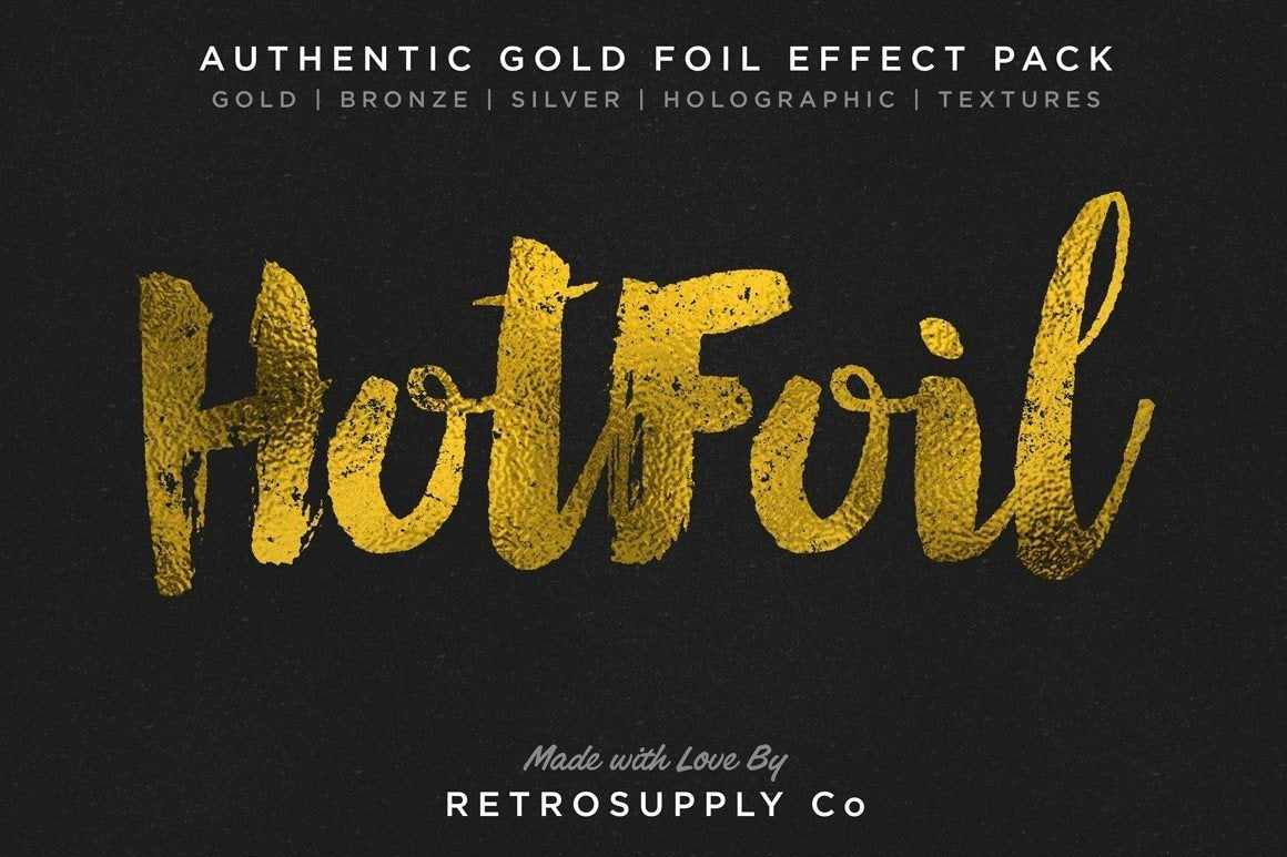 Hot Foil | Gold Foil Effect and More Smart PSD RetroSupply Co