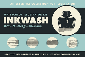 Illustrator - InkWash | Vector Ink And Water Brushes