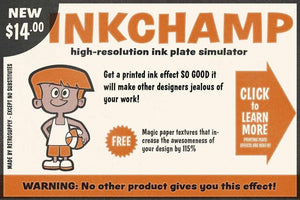 InkChamp - Ink Starve and Roughen Action Adobe Photoshop RetroSupply Co