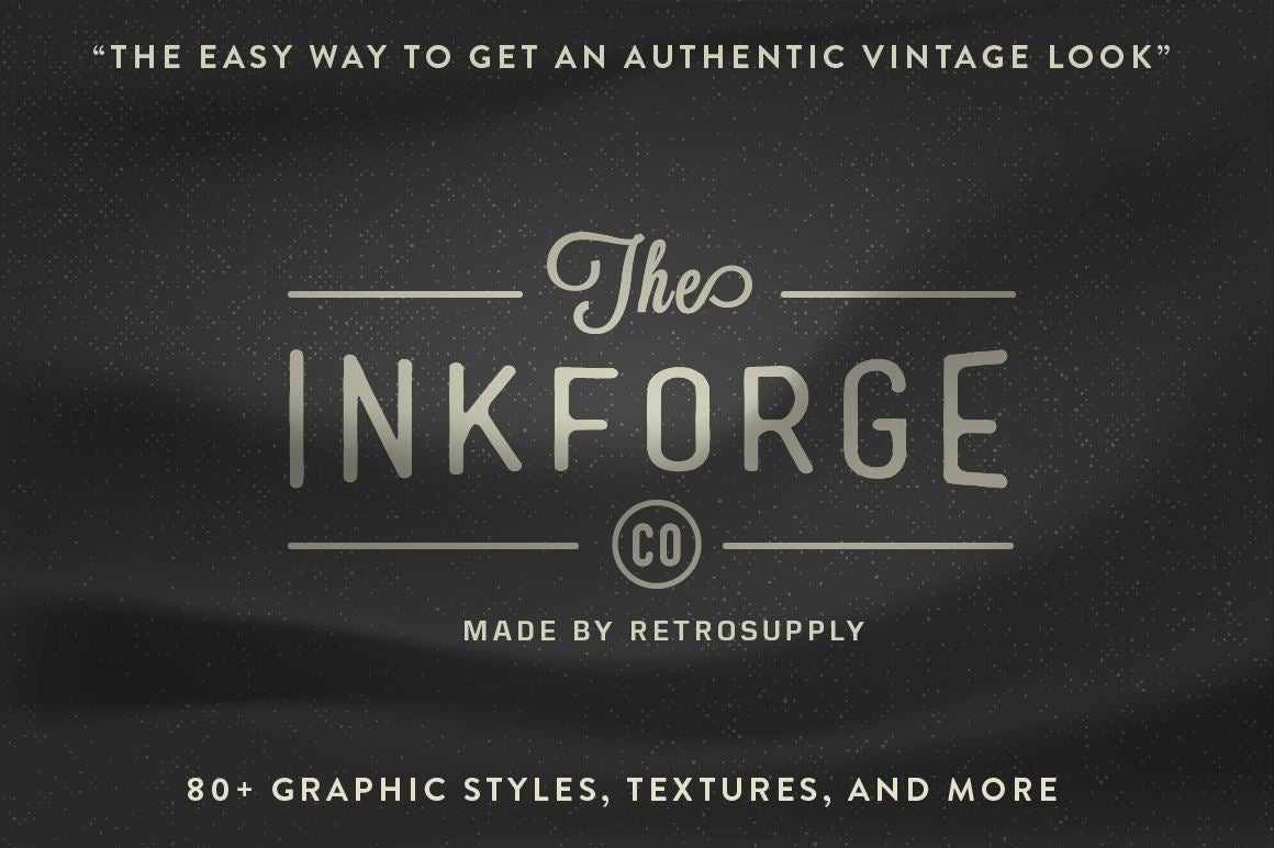 InkForge - The Easy Way to Add Vector Textures Textures RetroSupply Co