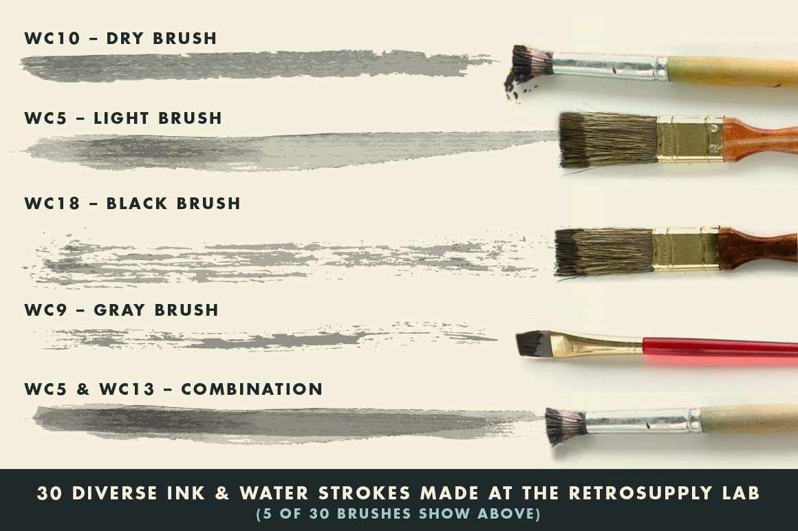 InkWash | Vector Ink and Water Brushes for Affinity Designer Affinity Designer Brushes RetroSupply Co.