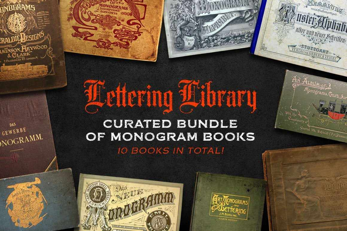 Lettering Library | Monogram Bundle Resources RetroSupply Co.