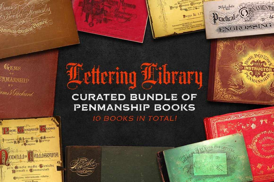 Lettering Library | Penmanship Bundle Resources RetroSupply Co.