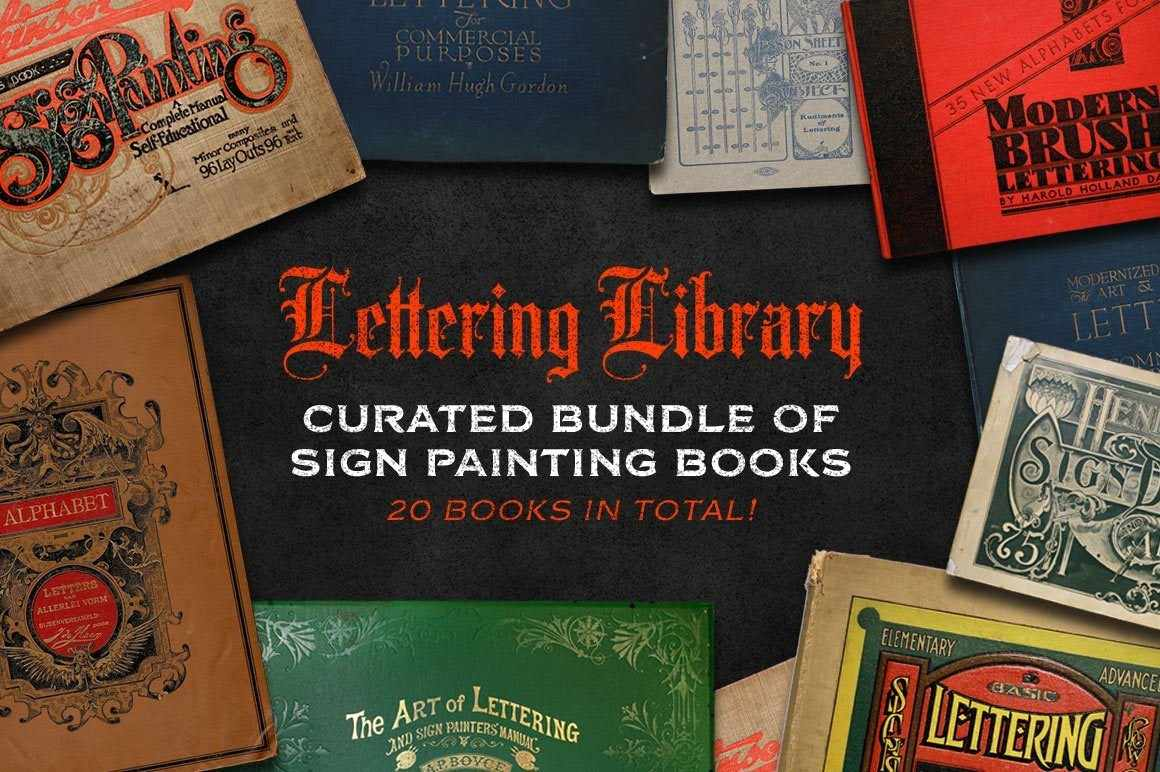Lettering Library | Sign Painting Bundle Resources RetroSupply Co.