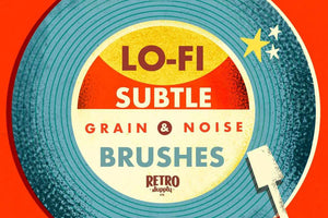 Lo-Fi Subtle Grain and Noise Brushes for Affinity RetroSupply Co.