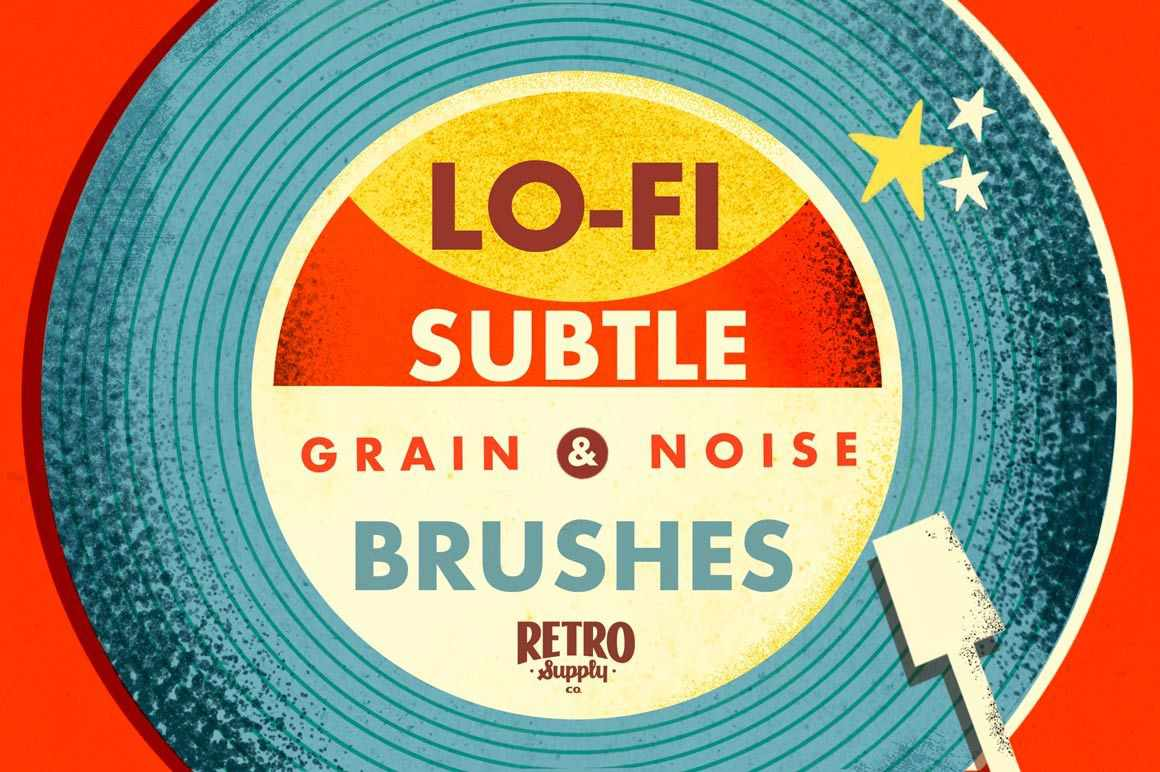 Lo-Fi Subtle Grain and Noise Brushes for Photoshop RetroSupply Co.
