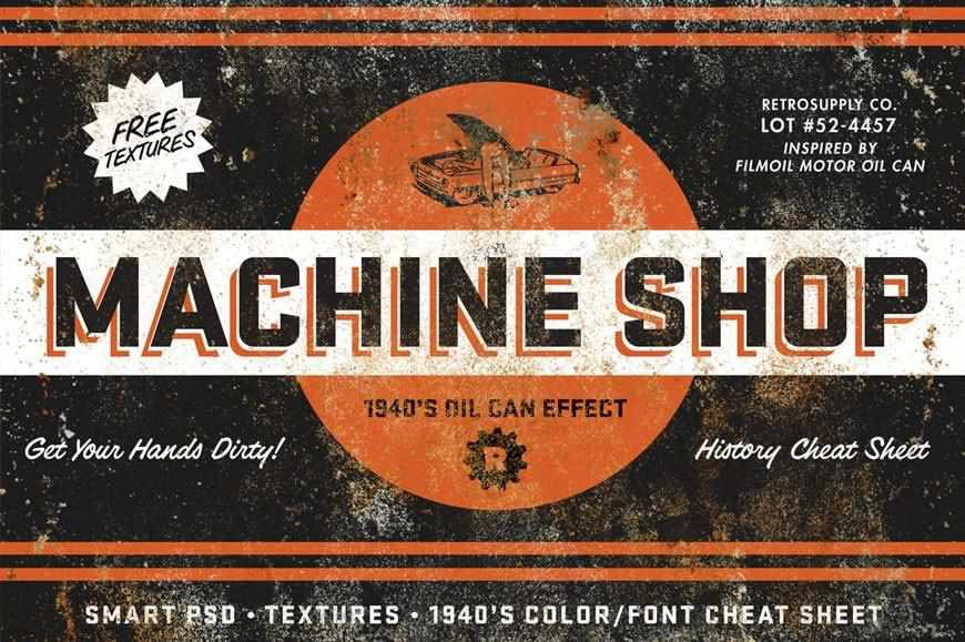MachineShop | Vintage Tin Emulator Adobe Photoshop RetroSupply Co