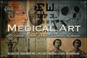 Medical Art | Massive Clip Art Pack Clip Art RetroSupply Co