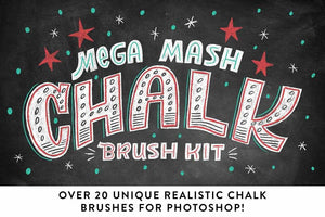 Mega Mash Chalk Brush Kit Brushes RetroSupply Co