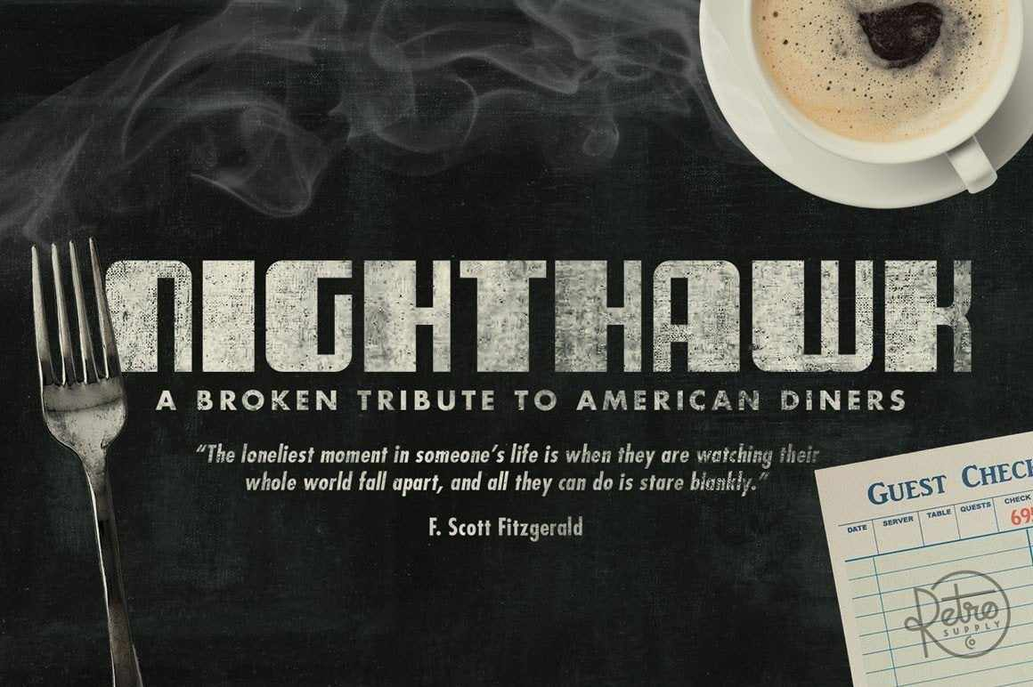 NightHawk Font Fonts RetroSupply Co