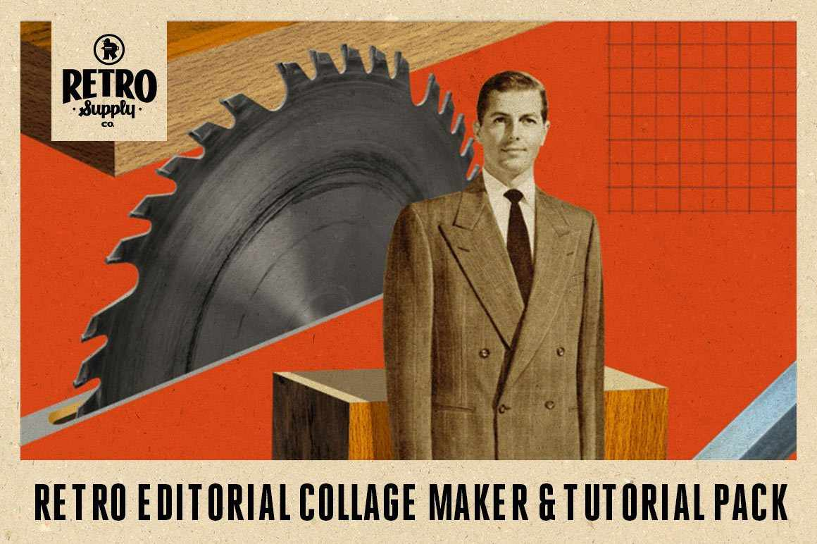Retro Editorial Collage Maker & Tutorial RetroSupply Co.